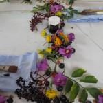 Atelier mit Blüten